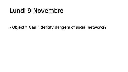 Les ados et le reseaux - Social network use - French