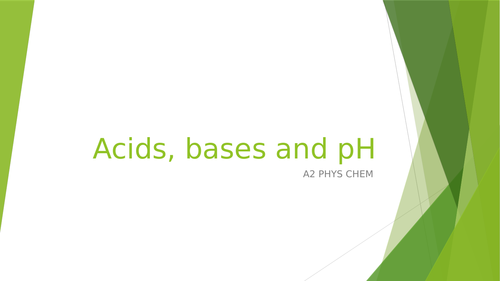 A2 Chem: acids, bases and pH.