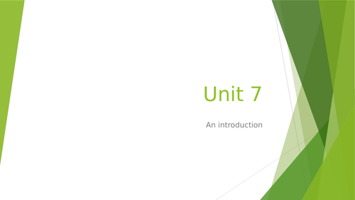 BTEC L3 Applied Science: Introduction to Unit 7 Contemporary Scientific Issues