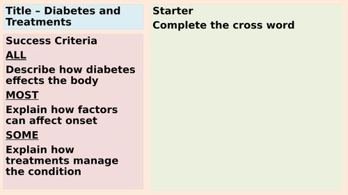 AQA Diabetes and Treatments