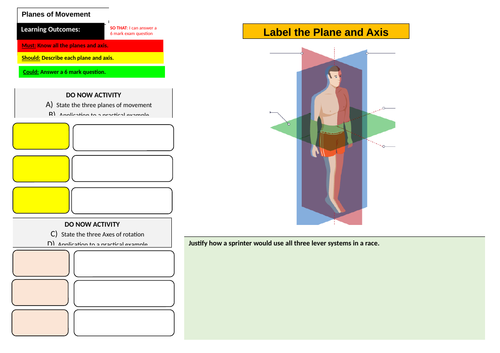 Planes and Axis Learning Mat