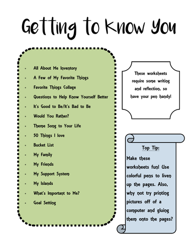 Getting to Know You Worksheets