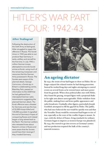 Hitler's War Part Four 1942-43