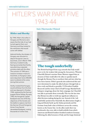 Hitler's War Part Five: 1943-44