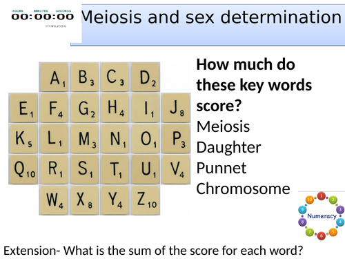 Topic 6 Meiosis and sex determination AQA trilogy