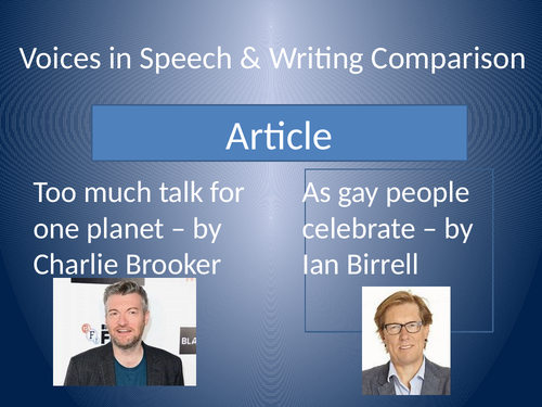 A Level English Lang & Lit Comparison Article Comparison Charlie Brooker and Ian Birrell