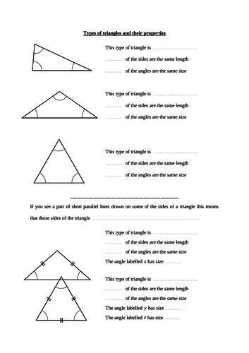 Types Of Triangles Isosceles Equilateral Scalene By