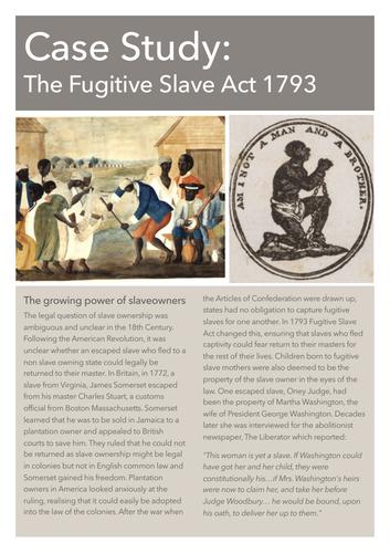 Case Study: Fugitive Slave Act 1793