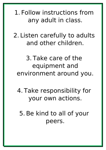 Year 5 Class rules