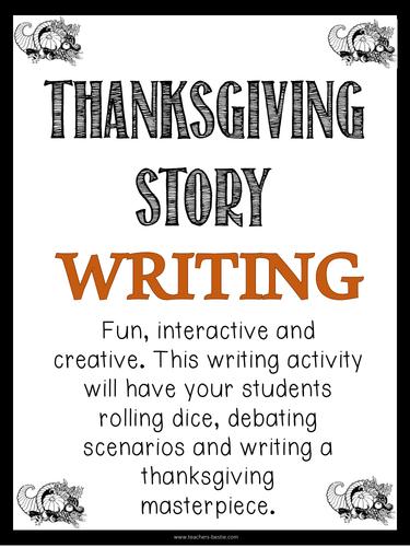 Thanksgiving Story Writing - Thanksgiving Writing Activity