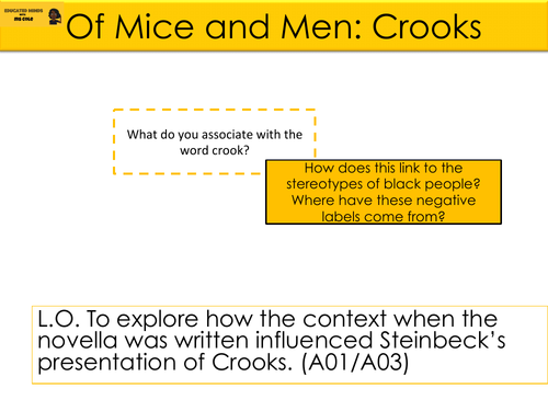 Of Mice and Men: Crooks