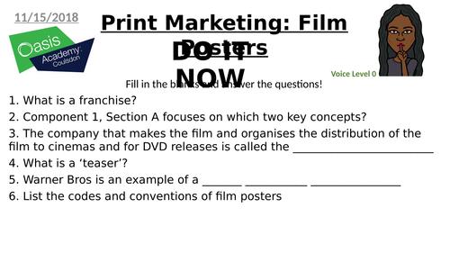 Eduqas GCSE Marketing - Film Posters