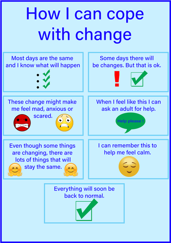 Coping with change social story