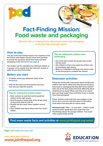 Waste fact finding mission