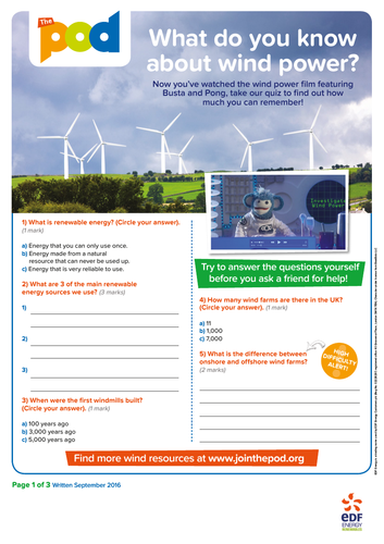 Wind film questionnaire