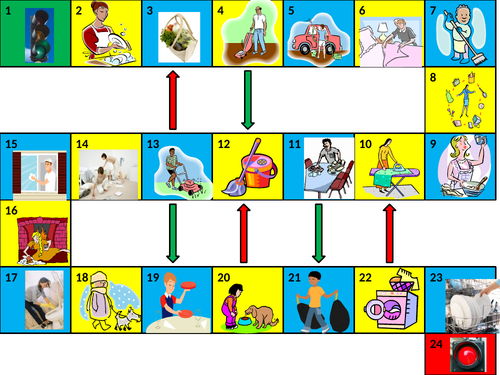 Chores Game board PowerPoint version