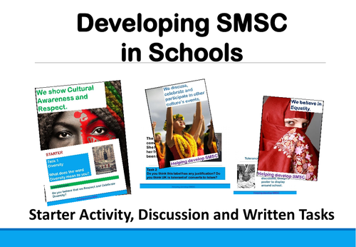 Tolerance, Diversity, Equality and Rights: Developing SMSC in Schools 2018