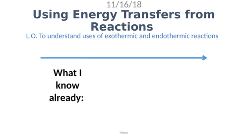 C7.2 Using Energy Transfers from Reactions