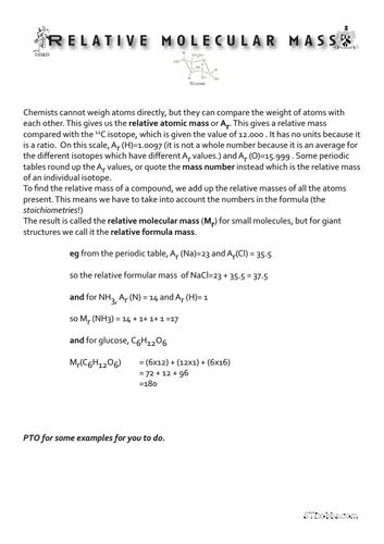 Relative molecular mass.
