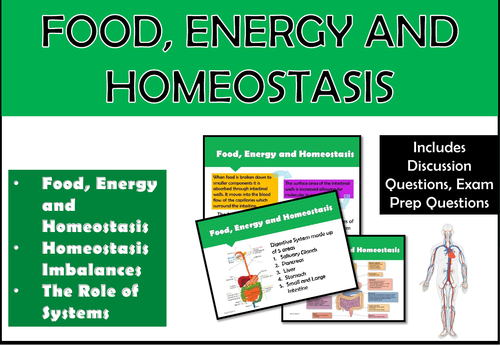 Food, Energy and Homeostasis (Unit of Work)