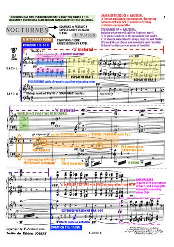 EDUQAS A Level Music - 'Nuages' Annotated Score