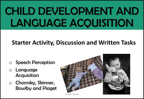 Child Development and Language Acquisition (Unit of Work)