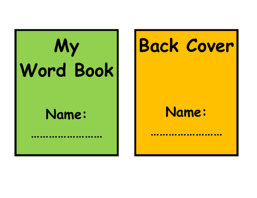 KS1 Personal Dictionary / Word Book by Lresources4teachers
