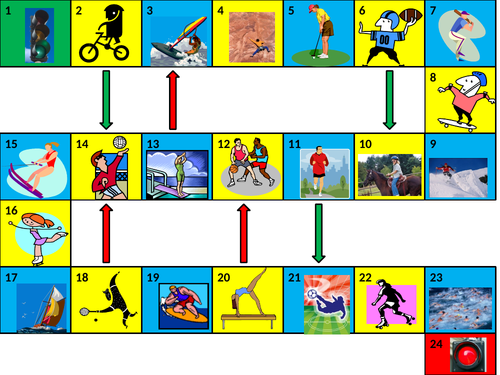 Sports Game Board PowerPoint Version