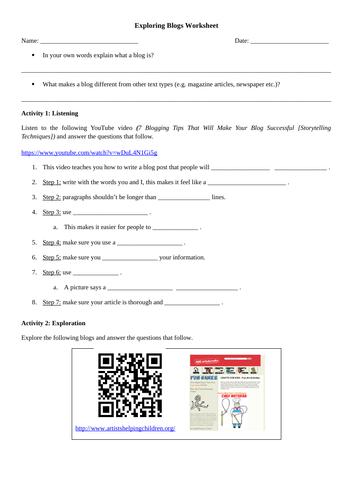 English - Exploring Blogs as a Text Type