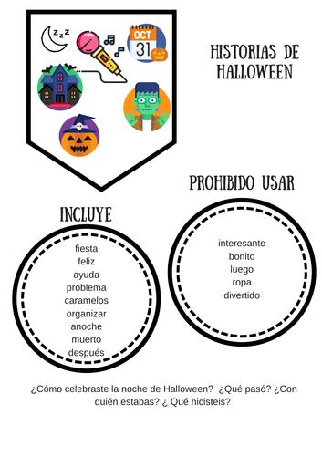 Halloween . Escritura creativa. Creative writing