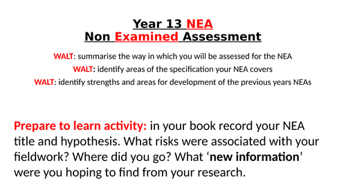 A level Geography NEA understanding the mark scheme and how to get the best grades