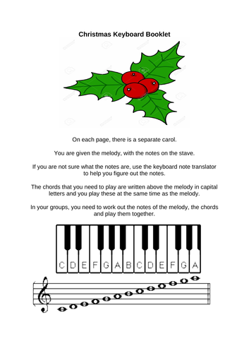Xmas Keyboard booklet