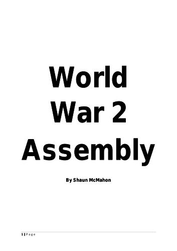 World War 2 Assembly Script