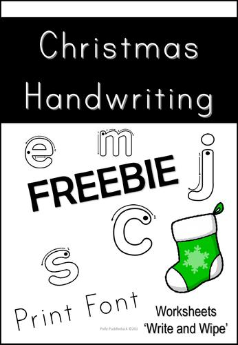 Christmas Handwriting Freebie