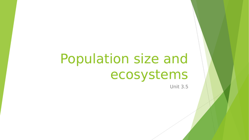Population size and ecosystems wjec unit 3.5