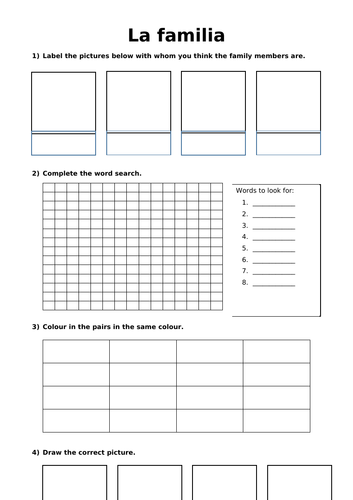 Languages KS3 - Create your own booklet