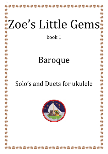 Baroque  Solo's and Duets for ukulele