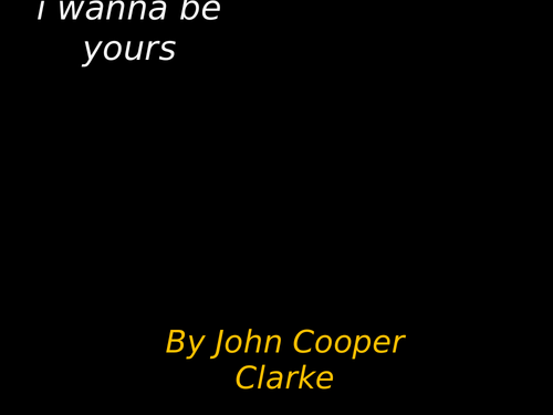annotated 'I wanna be yours' poem