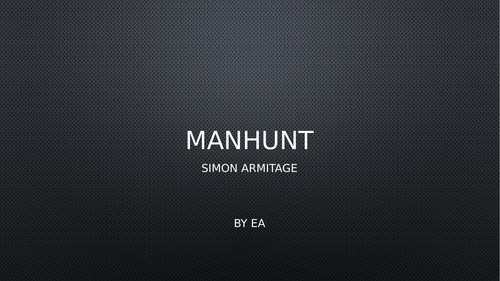 Annotated 'Manhunt' poem by Simon Armitage