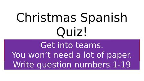 Spanish Christmas Quiz