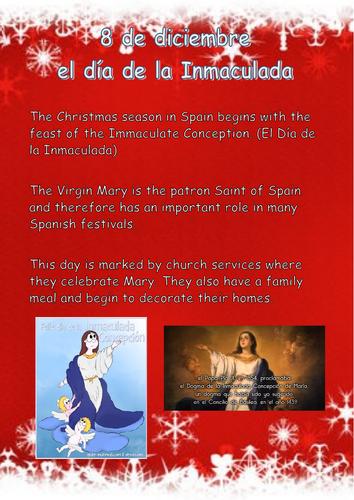Spanish Christmas Poster Lesson