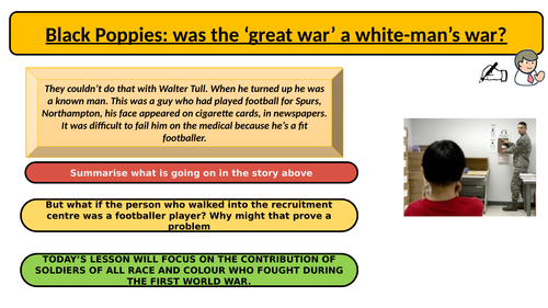 Black Poppies- the life of Walter Tull