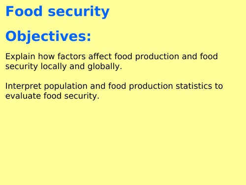 AQA B7.11 (Biology spec 4.7 - exams 2018) - Food Production (TRIPLE ONLY)