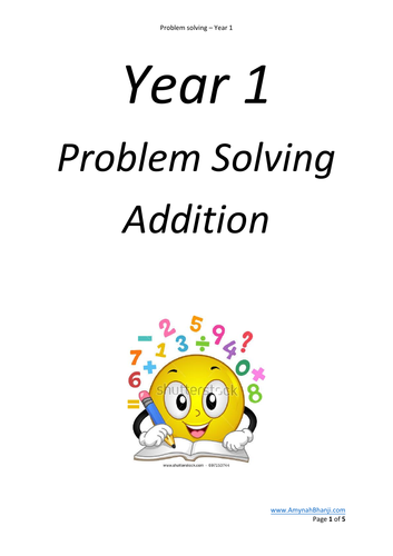 Problem solving for year 1