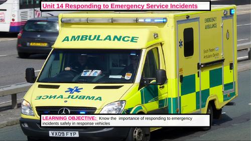 Responding to an emergency incident (Public Services L3 unit)