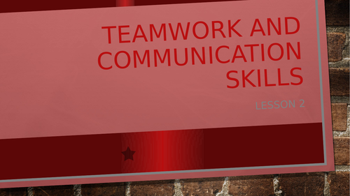 Teamwork and Communication skills unit L2