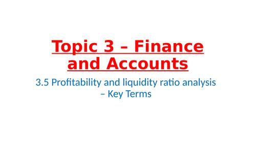 IB Business Management – Unit 3 Finance and Accounts – 3.5 profitability and Liquidity Ratio Analysi