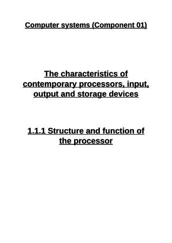 OCR A Level - Computer Science - H446 (Component 01 Section 1.1)