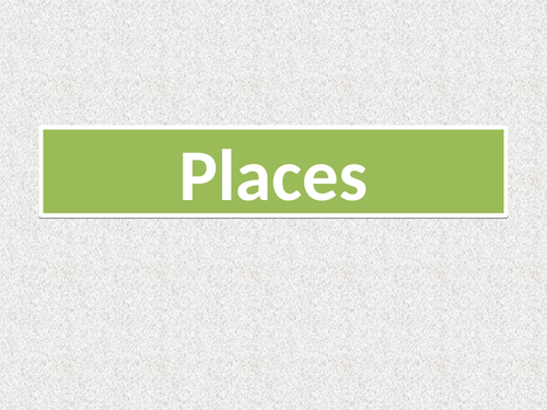Places in English PowerPoint