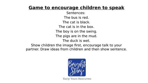 CVC Sentences to encourage communication and language